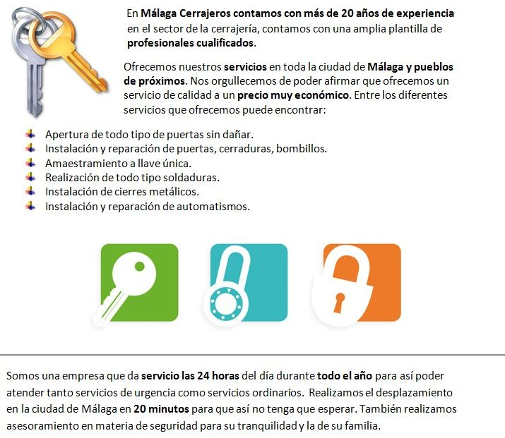 Servicios de cerrajeros Arroyo de la Miel autonomos con apertura de puertas